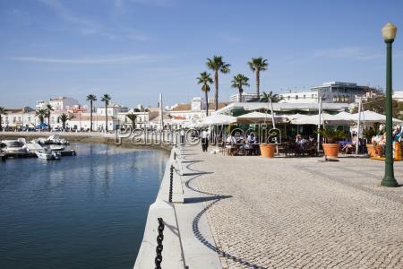 promenade at the harbour faro algarve