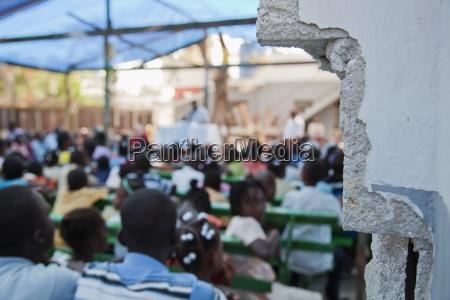 church meetings held under a tarp