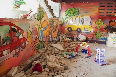 a baby nursery is destroyed by