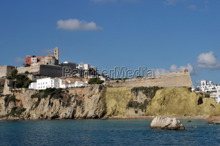 burgberg and old town of ibiza