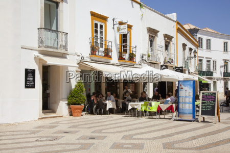 an outdoor restaurant faro algarve portugal