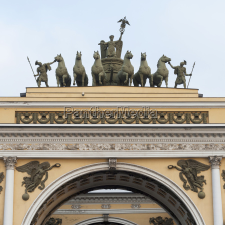 sculptures on top of general staff