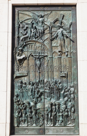 bronze doors to the cathedral of