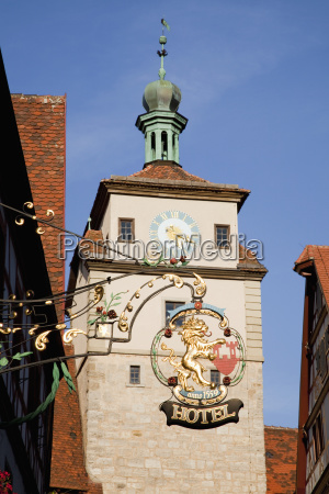 hanging sign for a hotel rothenburg