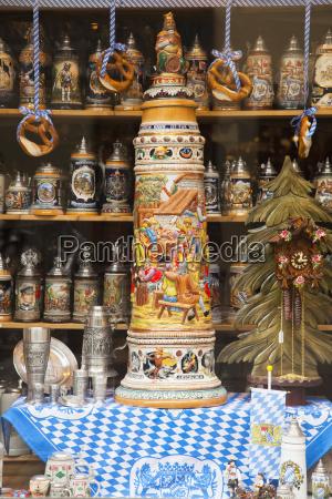 colourful ornate souvenirs and a cuckoo