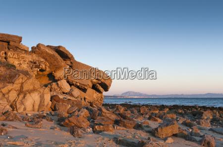 blau berge gewaesser strand formation spanien