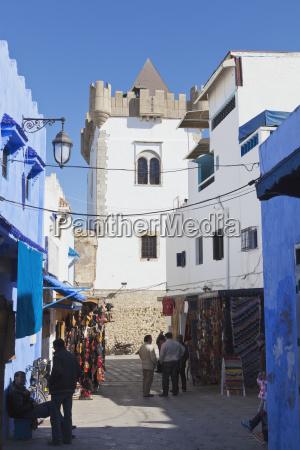 typical street scene in medina asilah