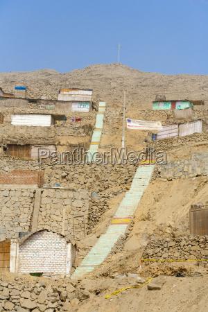 shanties gebaut auf ebenen des robusten