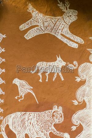 india close up of local artwork