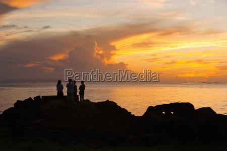sunset view of niihau island in