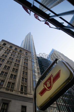 low angle view of office towers