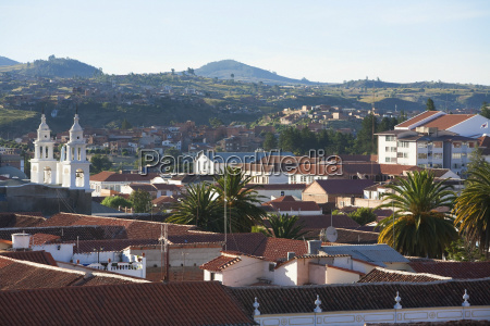 view of sucre from the roofs