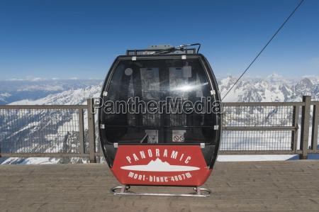 gondola in the french alps chamonix