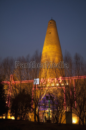 china beijing illuminated stone tower