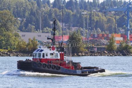 tug boat dock on the fraser