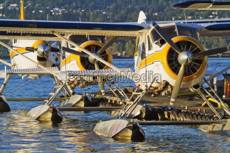 harbor air floatplanes at vancouver harbor