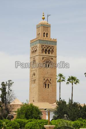 koutoubia mosque medina marrakech morocco
