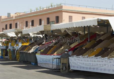 morocco marrakech medina spices and food