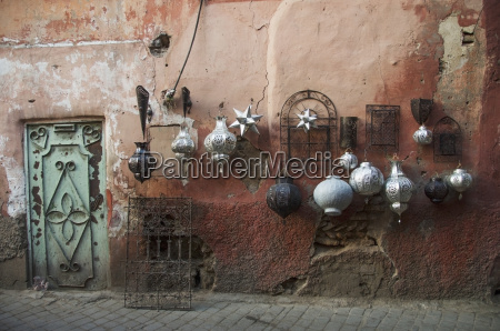 decorative baubles and metal wall art