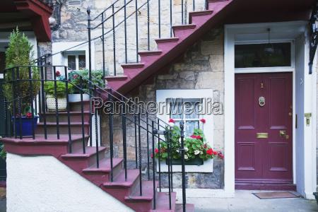 united kingdom scotland old house exterior