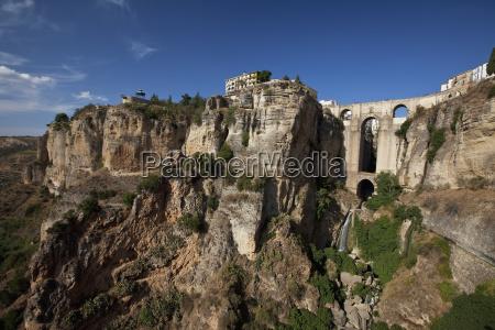 the roman bridge of ronda along