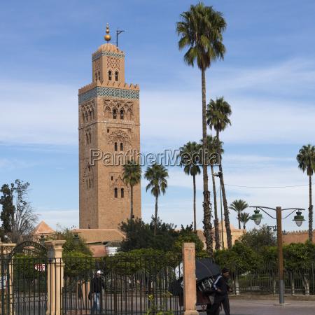 koutoubia mosque marrakesh marrakech tensift el
