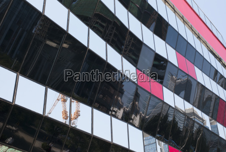 modern building with reflections in the