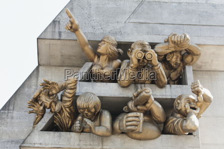 close up of sculpture on the