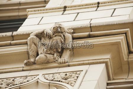 close up of a stone sculture