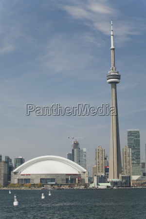 the skydome and cn tower from