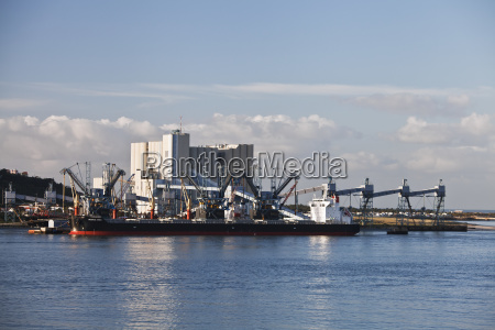 commercial port on the river tagus