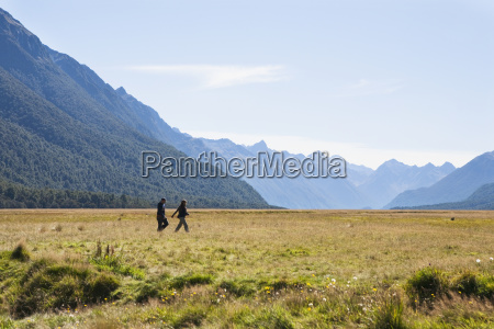 a couple explores the vast plains