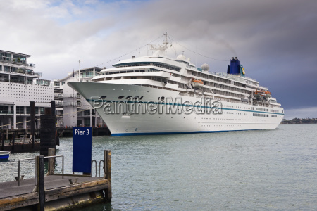 cruise ship docked in the auckland