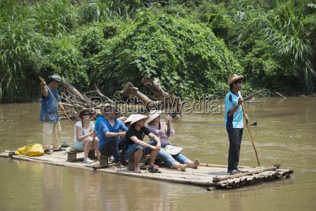 rafting down the river chiang mai