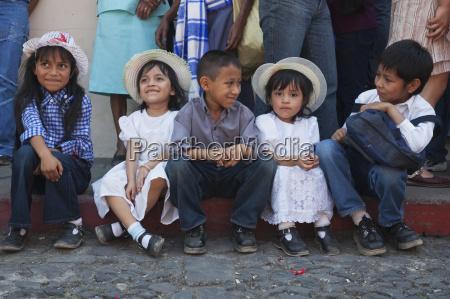 children dressed in their sunday best