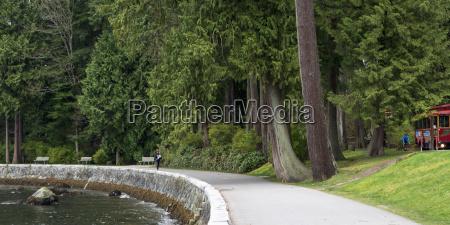 walkway along the waters edge on