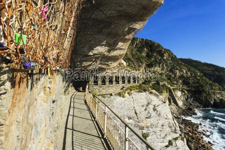 lovers pathway on the coastline of