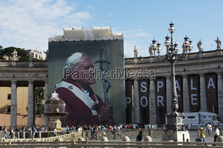 st peters square and a poster