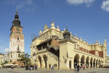 town hall tower and cloth hall