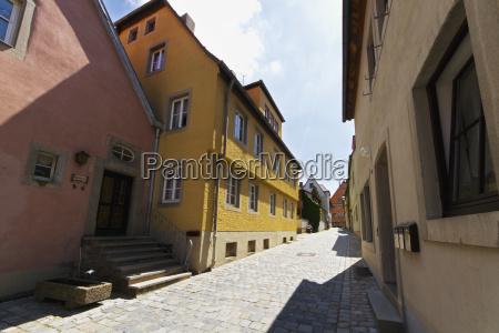 medieval street scene rothenburg ob der