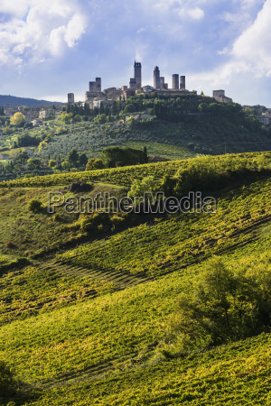 buildings on a hilltop surrounded by