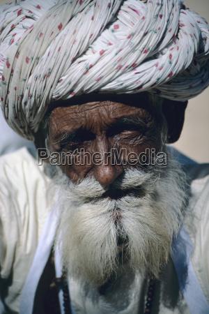 india rajasthan headshot of senior village