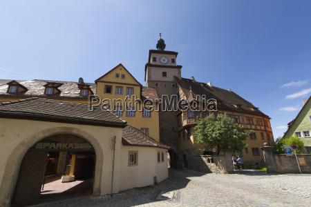 burgtor rothenburg ob der tauber bavaria