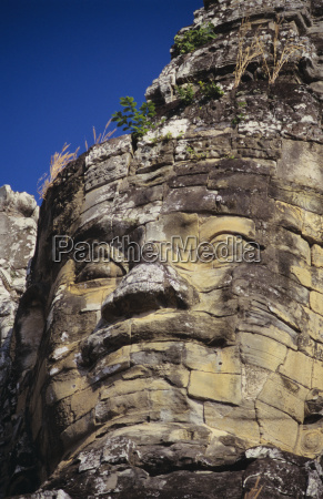 cambodia angkor thom close up of