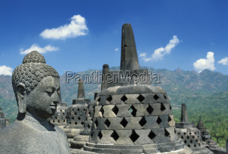 indonesia java borobudur temple view from