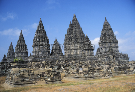 indonesia java prambanan overview of temple