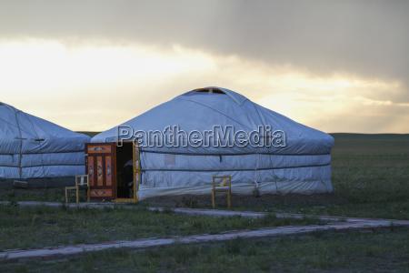 mongolian ger yurt tourist accommodation at