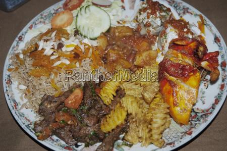 fancy dish at a kabul restaurant