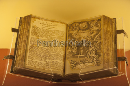 martin luther bible on display at