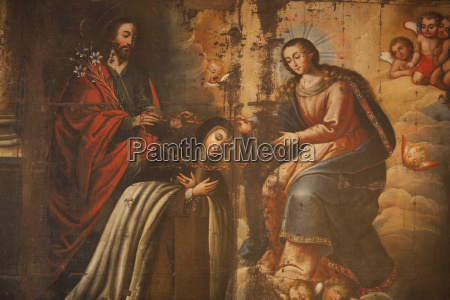 spanische, koloniale, malerei, der, jungfrau, im - 25471878